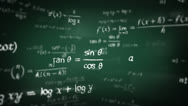 Stock Video Footage of Mathematical formulas. Loop-able. 360. Green