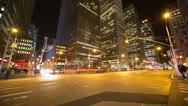 Stock Video Footage of New York urban city night time-lapse timelapse