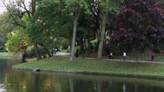 Brussels Autumn Park Stock Footage