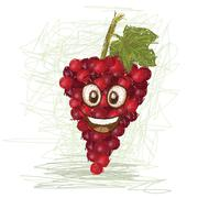 Happy grapes Stock Illustration