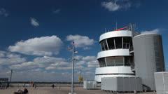 Jet Airplane Take Off Landing or Parking at Dusseldorf International Airport Stock Footage