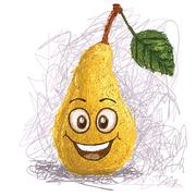 Stock Illustration of happy pear