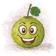 happy pomelo - stock illustration