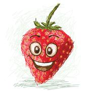 Happy strawberry Stock Illustration