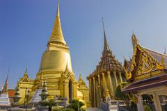 Temple of the Emerald Buddha  Wat Phra Kaew  Bangkok, Thailand Stock Photos