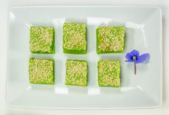 Kuih Bakar, Malaysian Sweet Dessert - stock photo