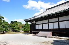 nijo castle was built in 1603 as the kyoto, japan - stock photo