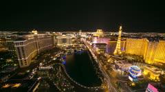 Las Vegas strip at night time-lapse 4K Ultra HD - stock footage