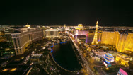Stock Video Footage of Las Vegas strip at night time-lapse 4K Ultra HD