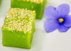 Kuih Bakar, Malaysian Sweet Dessert Stock Photos