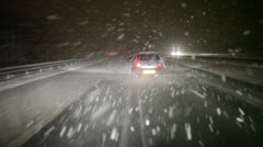 snow drive - stock footage