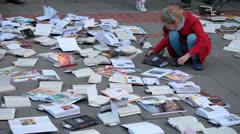 World Book Night in Bucharest Romania Stock Footage