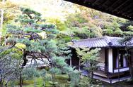 Stock Photo of japanese garden in the temple, koto-in a sub-temple of daitoku-ji