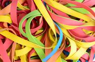 Stock Photo of vibrant rubber strips