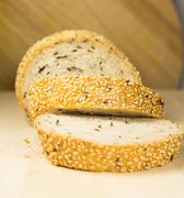 Sesame Seed Bread Stock Photos