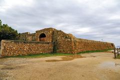 forti de santa ana in tarragona, spain, - stock photo