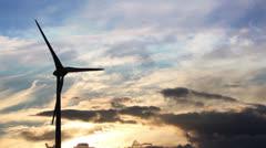 Wind Turbine Sunset - stock footage