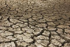 Dry soil Arid - stock photo