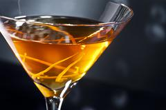 manhattan cocktail - stock photo