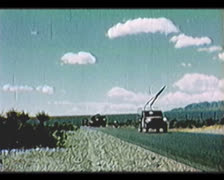 Cold War - Deployment convoy on road Stock Footage