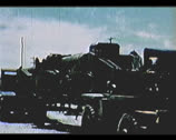 Stock Video Footage of Cold War - Atomic cannon mounted transport