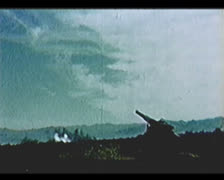 Cold War - Atomic cannon firing Stock Footage