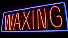 waxing neon sign - stock photo
