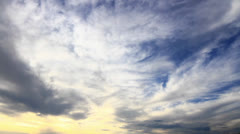 Sunset clouds. HD Panning. Rotation effect. Stock Footage