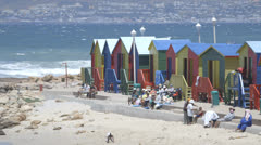 Beach Huts Stock Footage