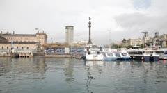 "Barcelona old harbor. ""Port Vell"" Stock Footage"