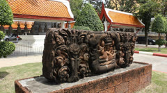 Thai Temple sculpture. Stock Footage
