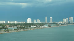 miami harbor Biscayne bay - stock footage