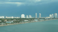 Miami harbor Biscayne bay Stock Footage