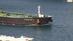 Tanker with a pilot on board Stock Footage