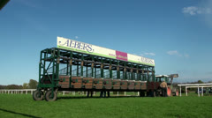 Horse Racing timelapse Stock Footage
