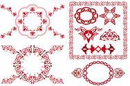 Callicraphic page decoration elements Stock Illustration