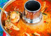 Stock Photo of thai prawn spicy soup.