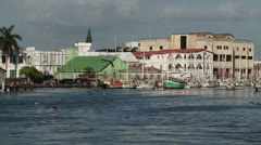 Belize City Waterfront - stock footage