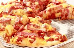 Hawaiian pizza Stock Photos