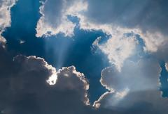 Clouds and sun. Stock Photos