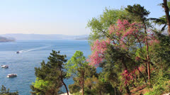 Springtime at Bosphorus Stock Footage