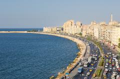 Stock Photo of view of alexandria harbor, egypt