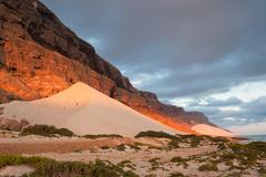 Sand dunes of archer, socotra island, yemen Stock Photos