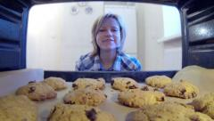HD - Cookies in the oven Stock Footage