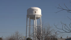 Water tower in Quanah, Texas - stock footage