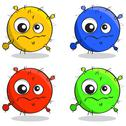 Stock Illustration of vector set of cartoon germs