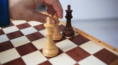 Playing Chess  (king, queen, check. checkmate) Stock Footage