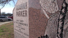 Quanah Parker The Last Chief of the Comanches Monument - Quanah, Texas - stock footage