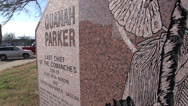 Stock Video Footage of Quanah Parker The Last Chief of the Comanches Monument - Quanah, Texas