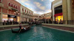 St Mark's Square at The Venetian Hotel, Las Vegas Stock Footage